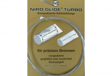 Niro-Glide Rear Brake Cable Inox Turbo Road Silver