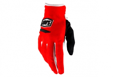 100% Ridecamp Women Long Gloves Red