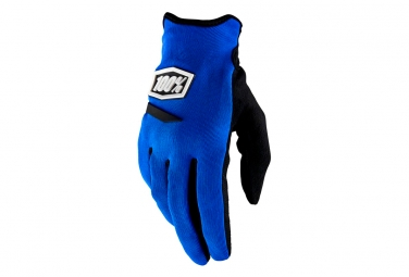 100% Ridecamp Mujeres Long Gloves Blue