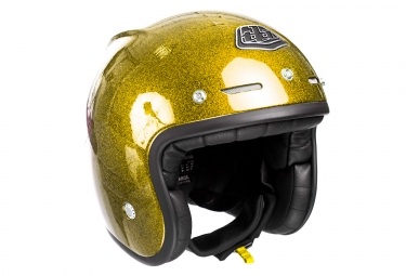 casque jet troy lee designs metal flake or xl