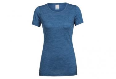 T-Shirt Manches Courtes Femme Icebreaker Sphere Low Crewe Bleu