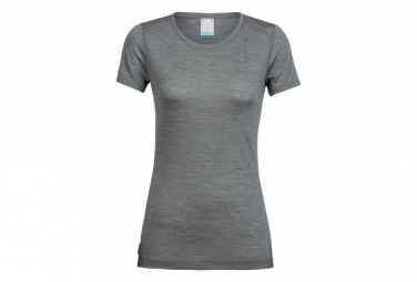 T-Shirt Manches Courtes Femme Icebreaker Sphere Low Crewe Gris