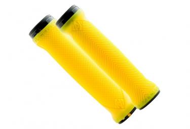 paire de grips race face lovehandle double lock on jaune