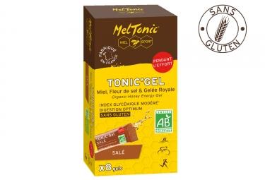 Meltonic 8 gels energetiques sale miel fleur de sel gelee royale