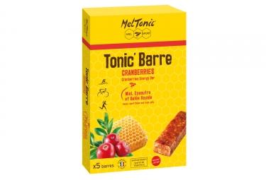 Meltonic 5 barres energetiques tonic miel cranberries goji