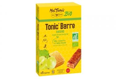 Meltonic 5 barres energetiques tonic miel raisin amande