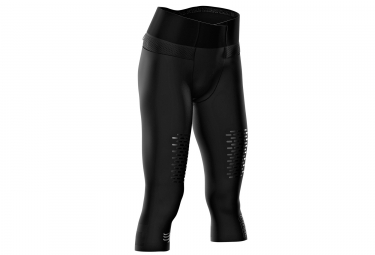Compressport Tight Trail läuft unter Kontrolle Piraten 3/4 Frauen Schwarz
