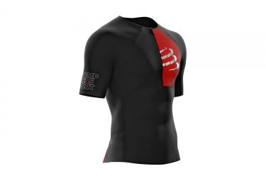 Maillot manches courtes compressport triathlon postural aero top noir s