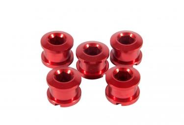 INSIGHT 5er Pack Aluminiumschrauben für Krone 6,5 x 4mm Alu rot