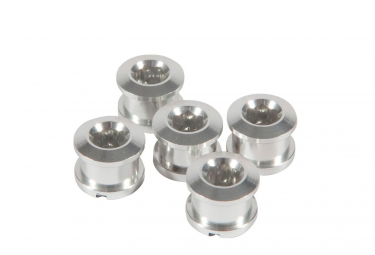 INSIGHT Pack of 5 Aluminum bolts for crown 6.5 x 4mm alu Silver