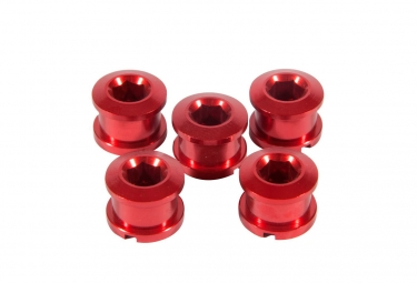 INSIGHT Pack of 5 bolts for crown 8.5 x 4mm alu red
