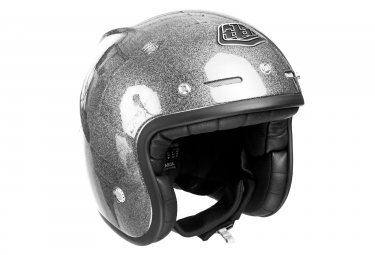 Casque jet troy lee designs metal flake argent xl 61 62 cm
