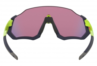 OAKLEY Flight Jacket Sunglasses Navy Blue/Yellow/Prizm Road