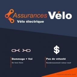 Assurance casse et vol pour velo a assistance electrique 1 an plafond de garantie 20