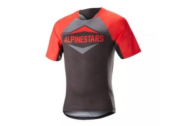 Maillot manches courtes alpinestars mesa rouge gris l