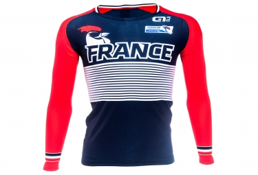 Long Sleeves Jersey Adult France Blue Red