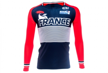 Long Sleeves Jersey Junior Red Black