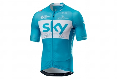 Castelli Team Sky Aero Race 5.2 Short Sleeves Jersey Blue/ White