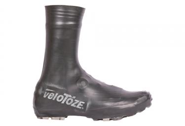 Couvre chaussures vtt velotoze tall mtb t blk 001 latex noir 40 42