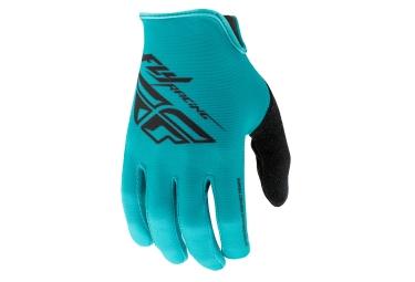Paire de gants longs fly racing media bleu s
