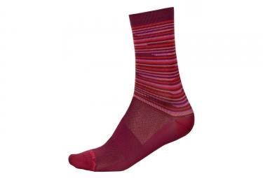 ENDURA Pinstripe Women's Socks Pinstripe Red