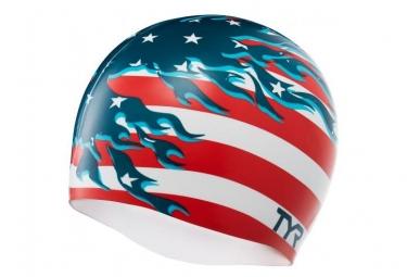Bonnet de bain tyr blazing patriot rouge blanc bleu