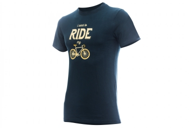 T-shirt MARCEL PIGNON Homme I Want To ride Bleu