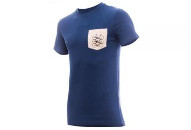 T-shirt MARCEL PIGNON Homme Pocket Bleu/Gris