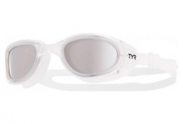 Lunettes de natation TYR Special Ops 2.0 Argent/ Blanc