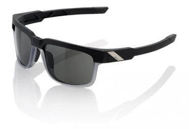Lunettes 100% Type S - Soft Tact Starco Noir / transparent - Ecran PeakPolar Gris