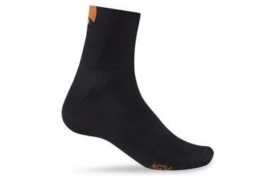 Paire de chaussettes giro classic racer noir orange vert 43 45