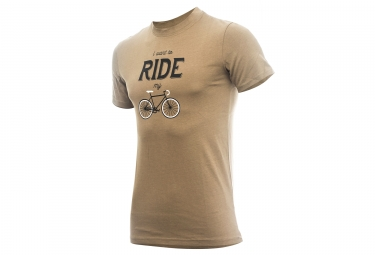 T-shirt MARCEL PIGNON Homme I Want To ride Marron