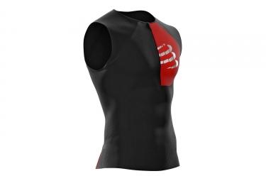 Maillot sans Manches Compressport Triathlon Postural Aero Noir