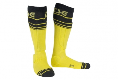 TSG Riot sock Yellow stripped