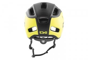 Casque tsg trailfox graphic design jaune noir s m