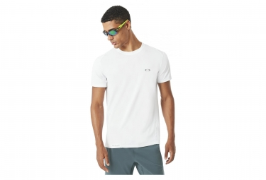 T shirt manches courtes oakley base top blanc m