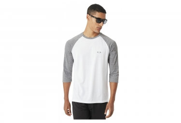 Oakley Camiseta 3/4 Sleeves Enlace Blanco