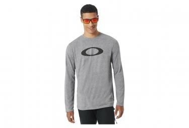 T shirt manches longues oakley o mesh ellipse gris xl