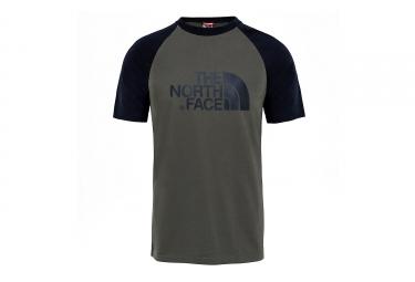 T shirt the north face raglan easy vert noir s