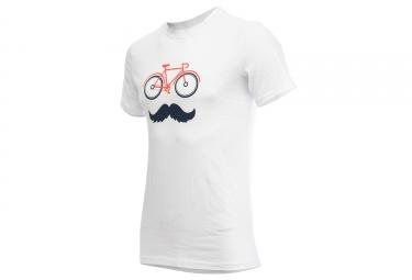 T shirt marcel pignon homme velostache blanc s