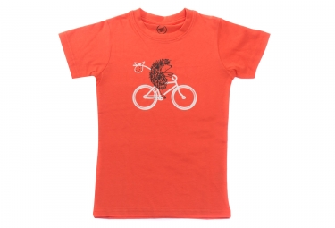 T shirt marcel pignon enfant herisson orange 6 ans