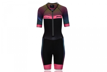 Combinaison trifonction femme zoot ultra tri aero skinsuit noir rose xs