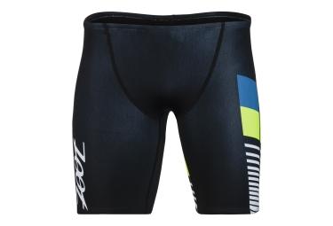 Short de Triathlon ZOOT Edition Limitée TRI Aloha 9'' Noir Jaune Bleu