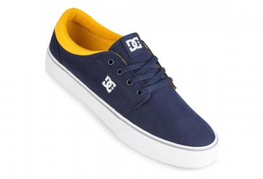 Chaussures dc shoes trase tx navy jaune 41