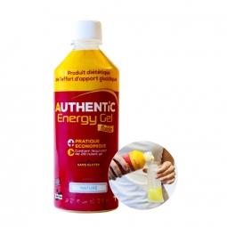 Gel energetique authentic nutrition bouteille de 500ml arome pomme