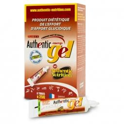 Boite de 6 gels de 25gr energetiques authentic nutrition arome peche