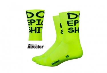 Defeet Aireator DO EPIC Socken Gelb / Schwarz Brief