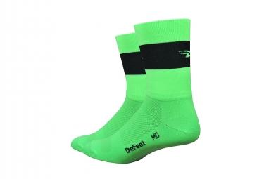 Calcetines DeFeet Aireator - Vert / Noir