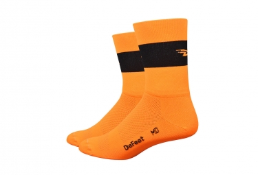 Paire de Chaussettes Defeet Aireator Team Orange/Bande Noire