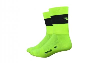 Defeet Aireator Team Socks Yellow / Black stripe